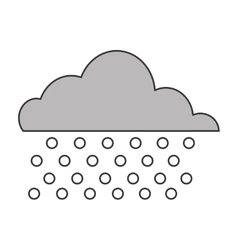 Cloud with rain icon vector