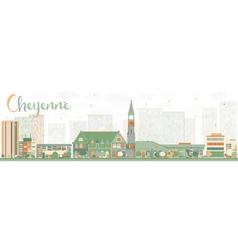 Abstract cheyenne wyoming skyline vector