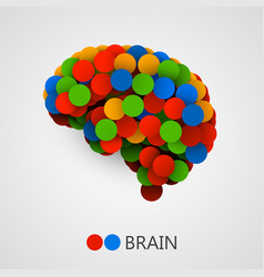 Abstract creative concept of brain made with vector