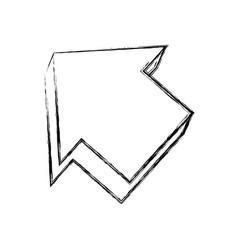 Arrow pointing symbol vector