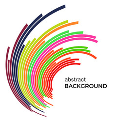 Background with colorful rainbow lines vector