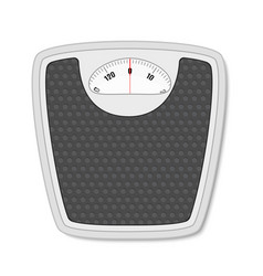 Bathroom floor weight scale vector