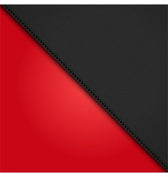 Black leather diagonal panel background on red vector
