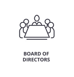 board of directors line icon outline sign linear vector image