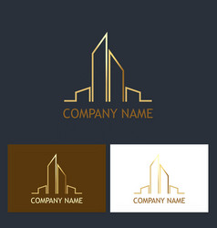 building cityscape logo vector image vector image