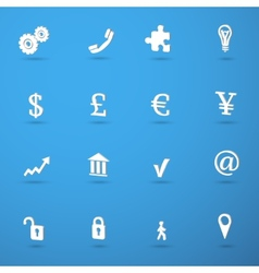 Business infographic icons set vector