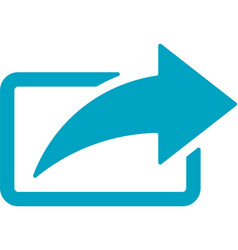 business networking share arrow icon vector image vector image