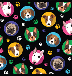 dogs and paw vector image vector image