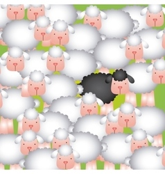 Flock of sheep design vector