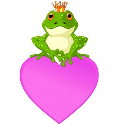 heart frog vector image vector image