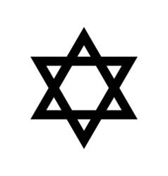 Jewish icon religion symbol vector