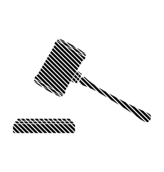 Judge gavel sign vector