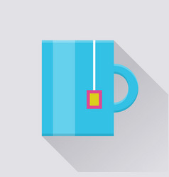 Mug with tea bag pocket icon vector