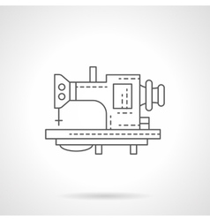 One stitch machine flat thin line icon vector image vector image
