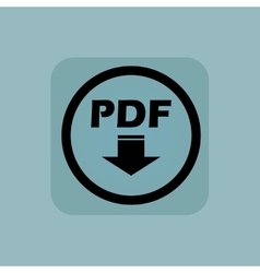 Pale blue pdf download sign vector