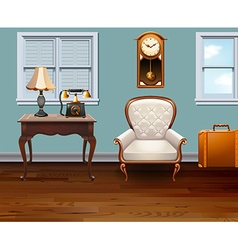 Room full of vintage furniture vector
