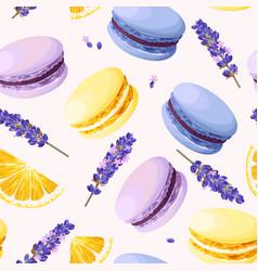 Seamless pastel macarons vector
