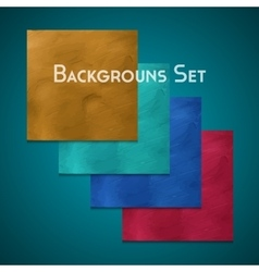 Set of background vector image vector image