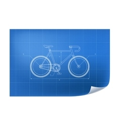 Technical with bicycle drawing vector