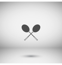 Tennis racket silhouettes icon vector image vector image
