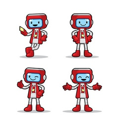 Ticket Machine Robot vector image vector image