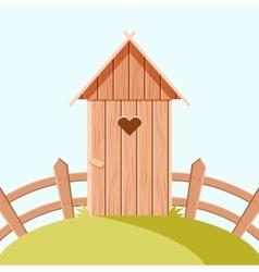 Villiage wooden toilet vector