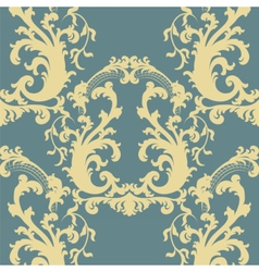 Vintage floral baroque ornament pattern vector