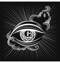 Egypt god eye icon vector