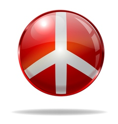 Peace button vector