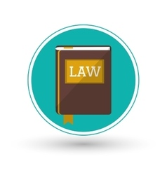 Book of law and justice design vector