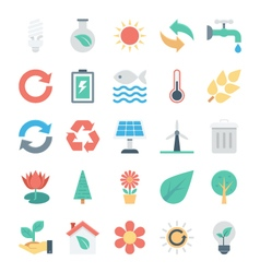 Nature and Ecology Colored Icons 1 vector image