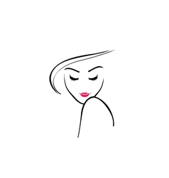 Abstract lady vector image