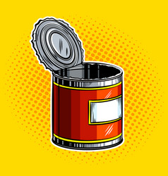 open tincan pop art vector image