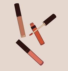 liquid lipstick matte sketch vector image