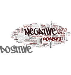 the magic ratio of positive and negative moments vector image