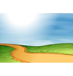 A narrow pathway vector