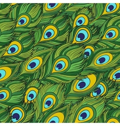 Cartoon ethnic feathers seamless pattern vector