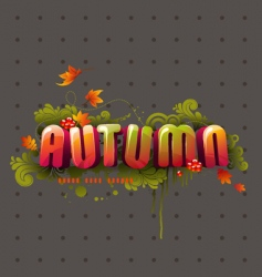 Colorful 3d autumn headline vector