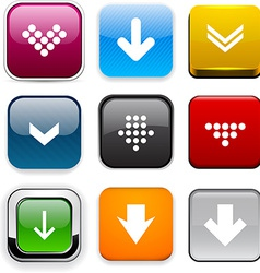 Square color download icons vector