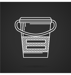 White line icon for meal replacement vector