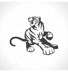 Tiger logo emblem template mascot symbol vector