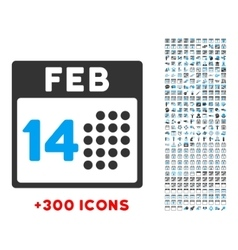 Romantic valentine day icon vector