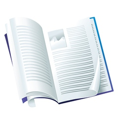 open magazine - with folding pages vector image