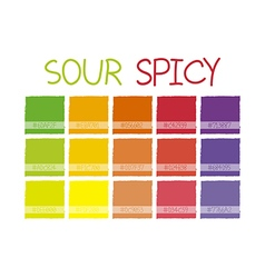 Sour spicy color tone vector