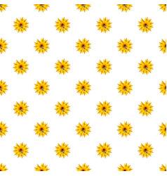 Bee on flower pattern vector