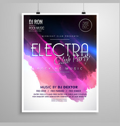 Club party event layout flyer brochure template vector