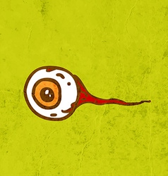 Eyeball cartoon vector