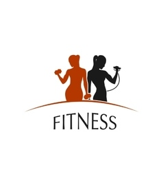 Fitness Club logo depicting women vector image