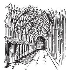 Gloucester southwest vintage engraving vector