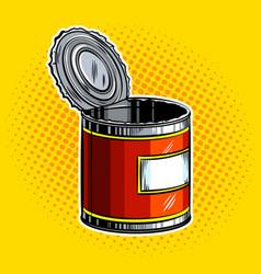 open tincan pop art vector image vector image